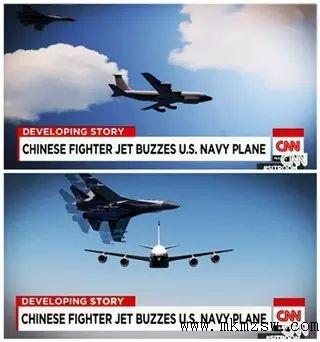 中国歼-11bh战斗机在南海拦截美国p-8侦察机